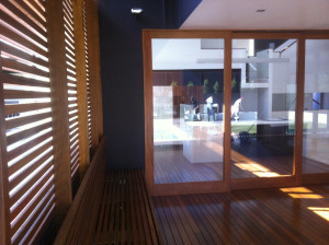 The Outside Deck Area of a Modern Designer Home
